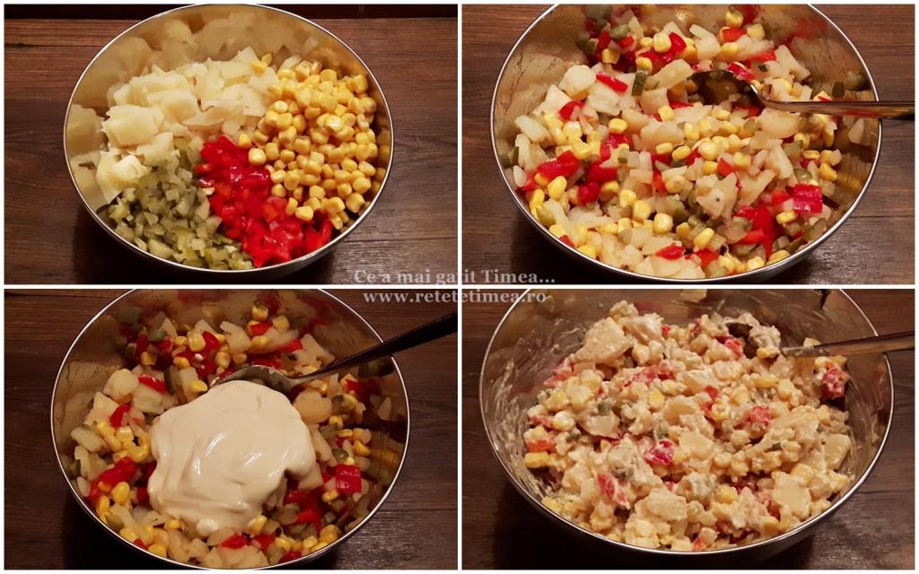 mod de preparare salata de cartofi cu maioneza