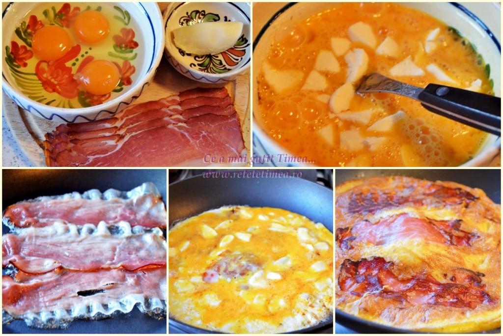 mod de preparare omleta cu sunca si mozzarella