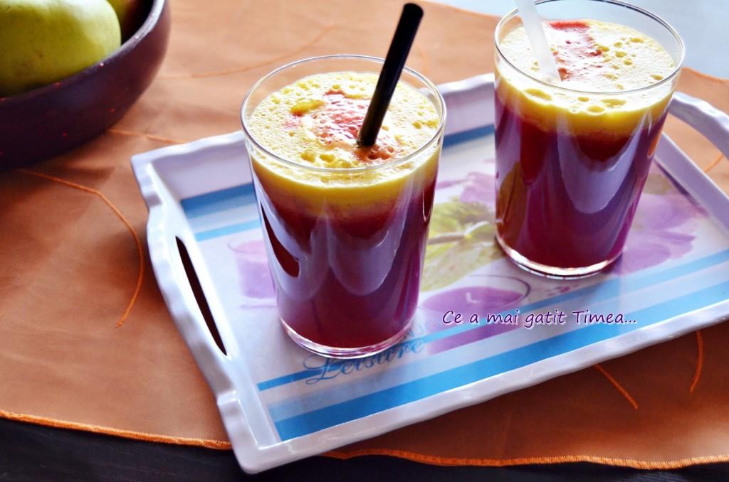 suc de sfecla cu fructe