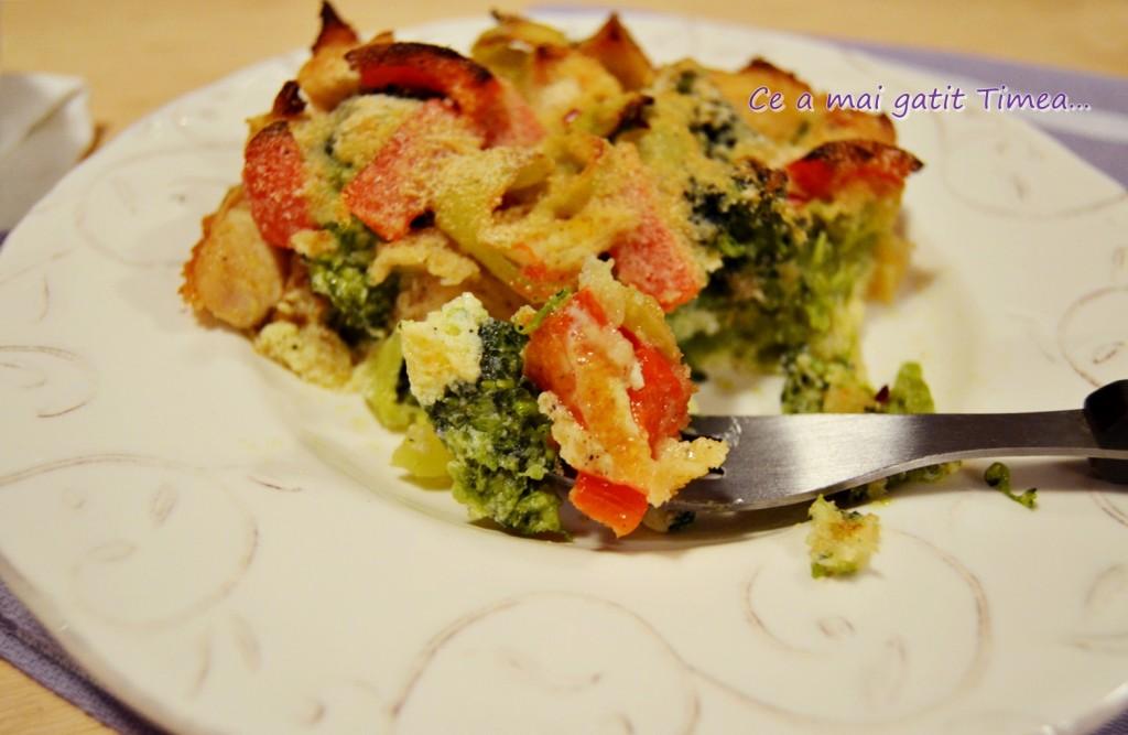 brocoli cu pui la cuptor 3