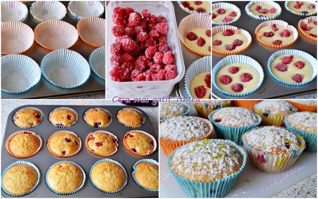 mod de preparare muffins cu zmeura si lime 1