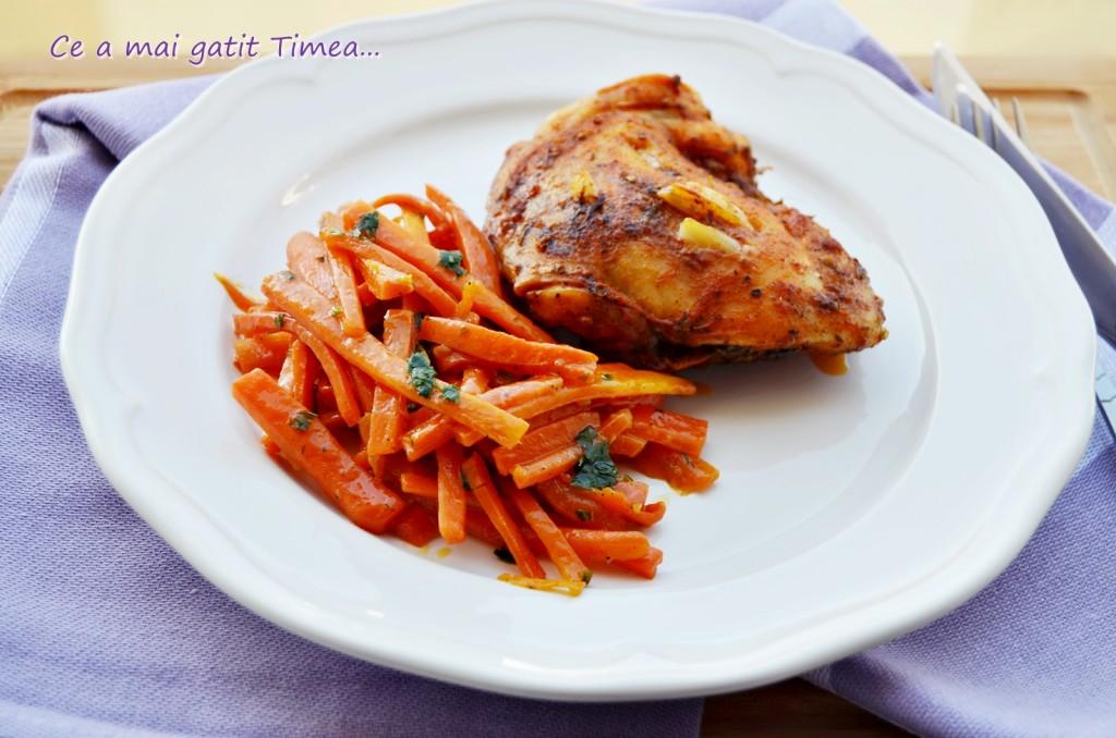 sote de morcovi cu pulpe de pui