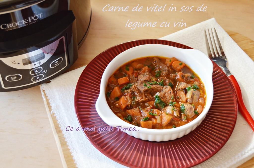 carne de vitel in sos de legume cu vin 2