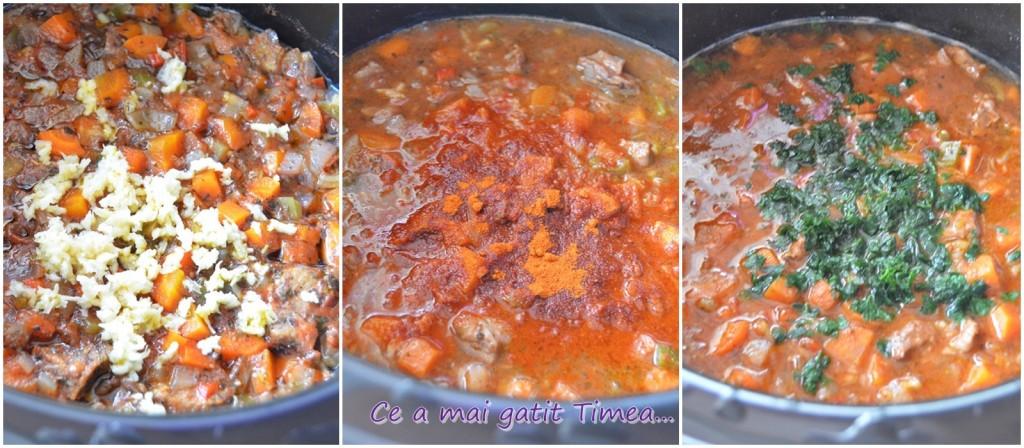 mod de preparare carne de vitel in sos de legume cu vin 1