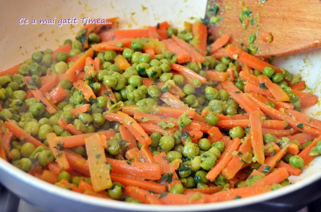 sote de morcovi cu mazare