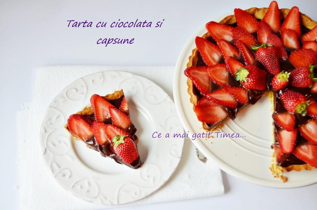 tarta cu ciocolata si capsuni 3