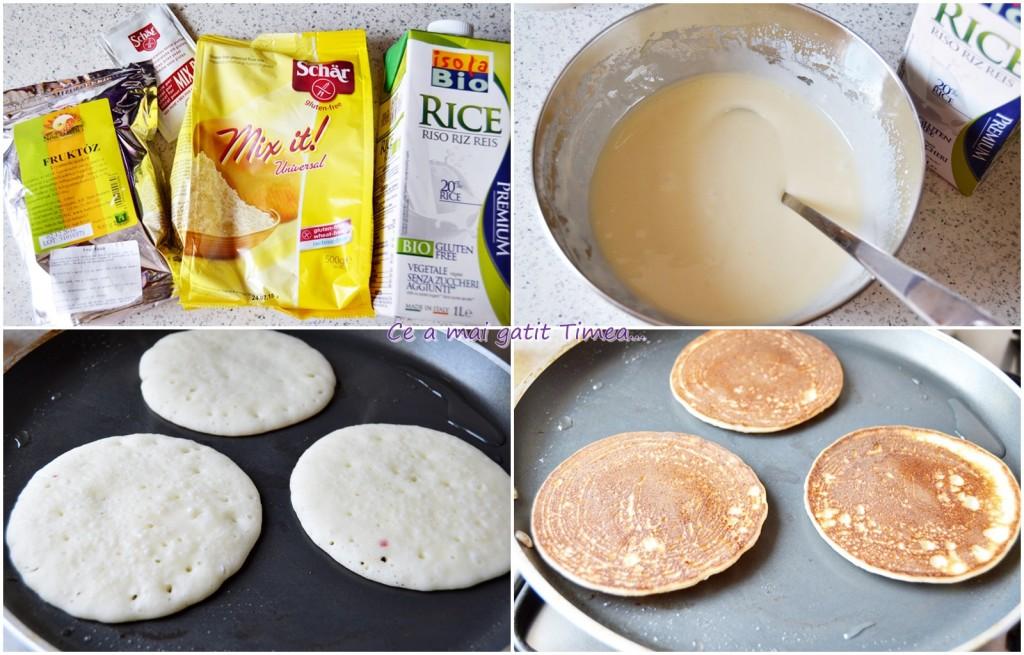 mod de preparare pancakes cu sos de mure fara gluten si lactoza
