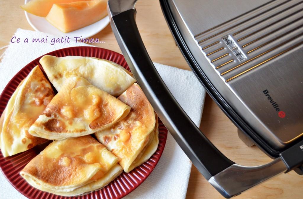 Clatite pufoase cu pepene galben 2