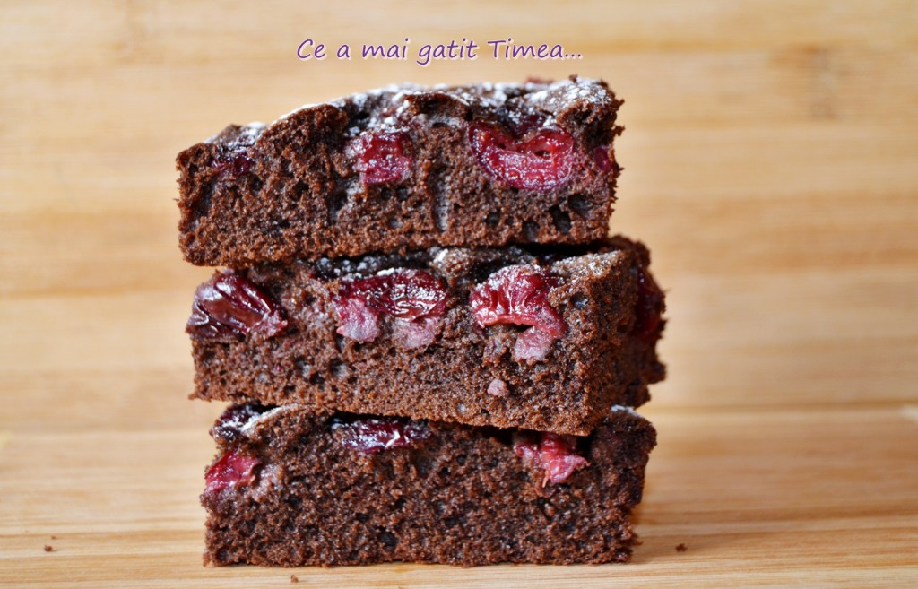 brownie cu visine 2