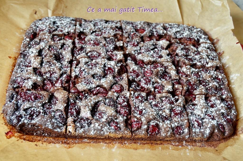 brownie cu visine 4