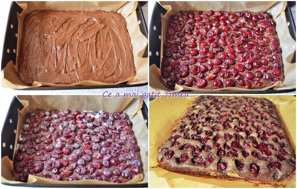 mod de preparare brownie cu visine 1