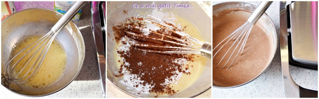 mod de preparare tort de clatite cu ciocolata