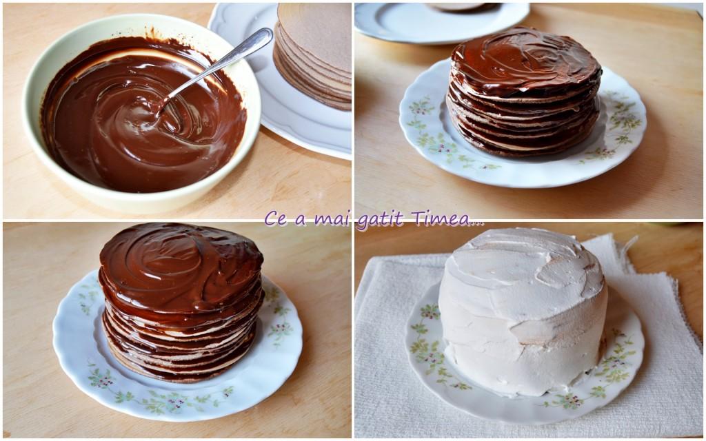 mod de preparare tort de clatite cu ciocolata 2