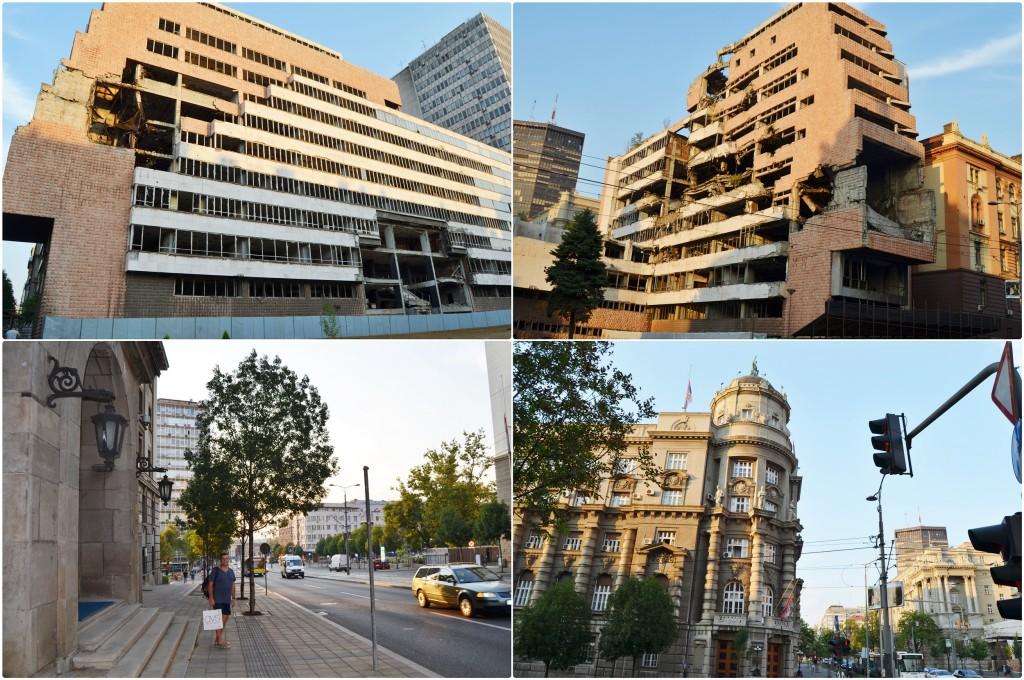 Belgrad cladiri bombardate