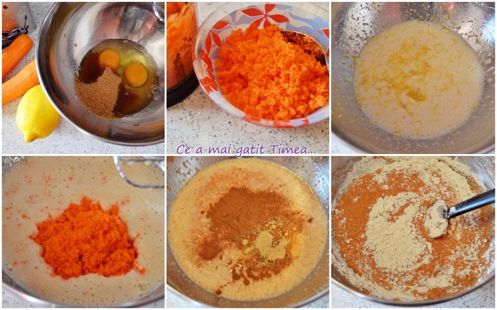 mod de preparare prajitura cu morcovi