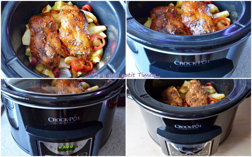 mod de preparare piept de pui cu legume 2