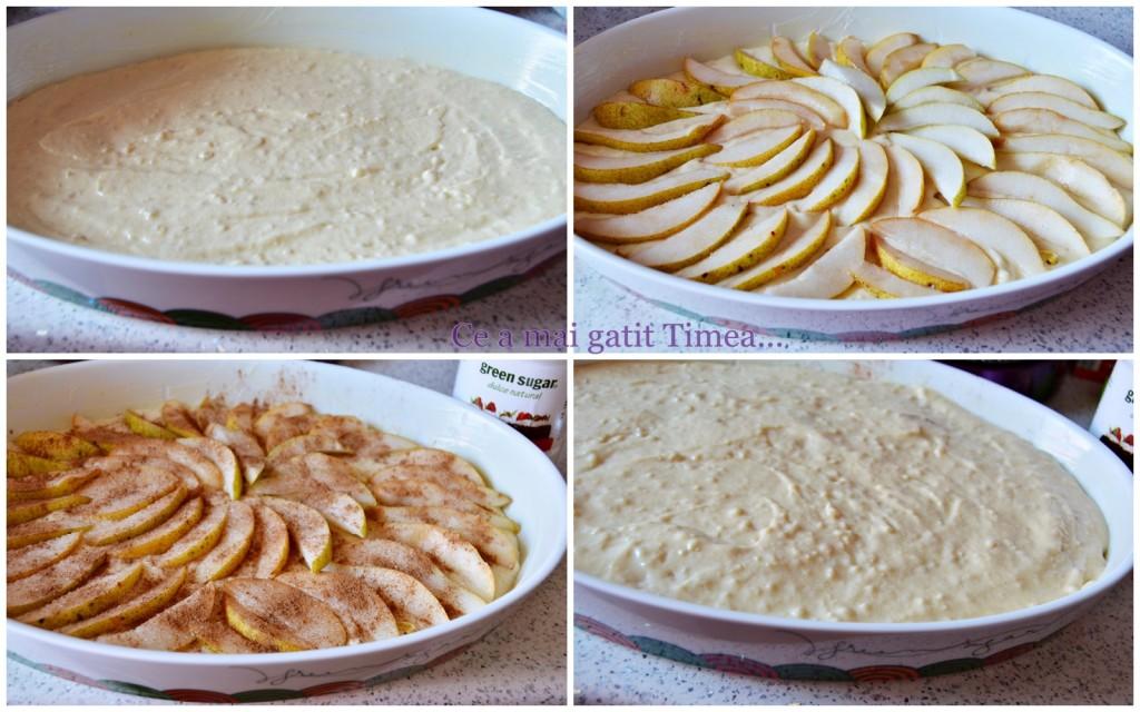 mod de preparare prajitura cu pere si migdale 1