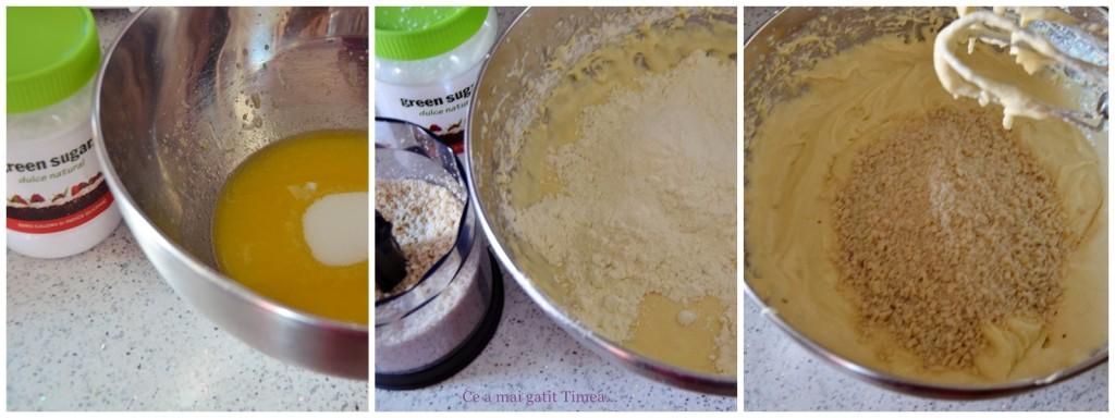 mod de preparare prajitura cu pere si migdale