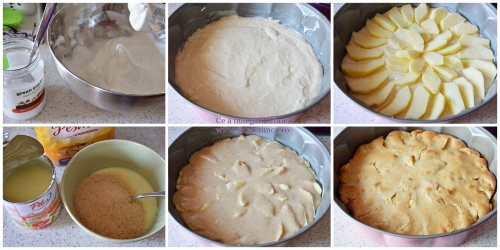 mod de preparare tarta cu mere si dulce de leche