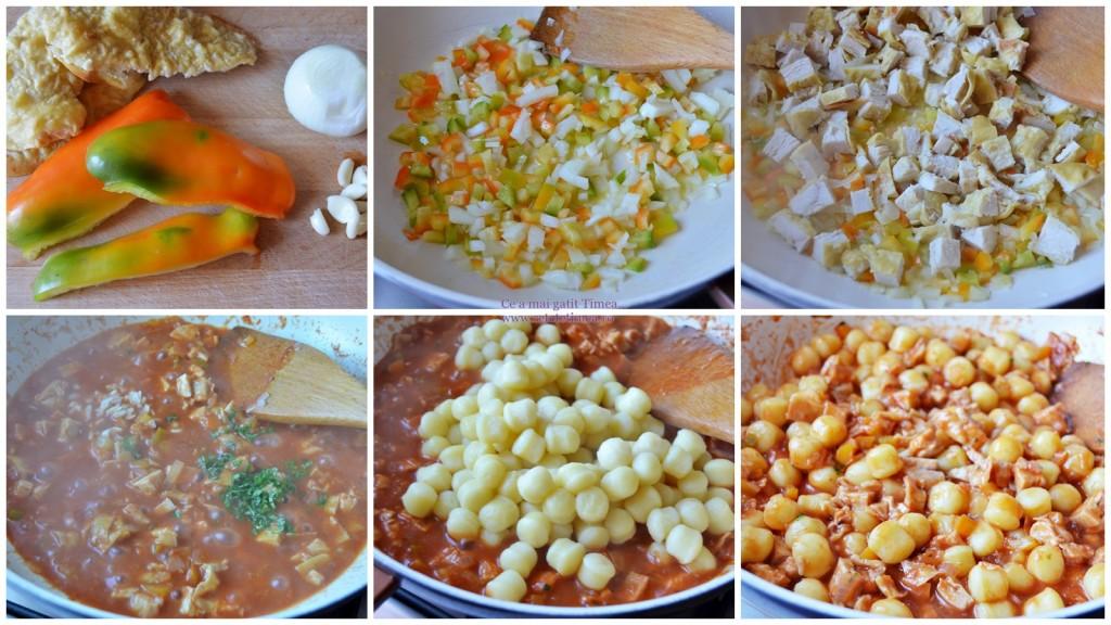 mod de preparare galuste in cartofi cu sos de rosii si piept de pui 1