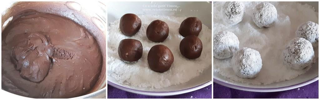 mod de preparare crinkle cu ciocolata si rom