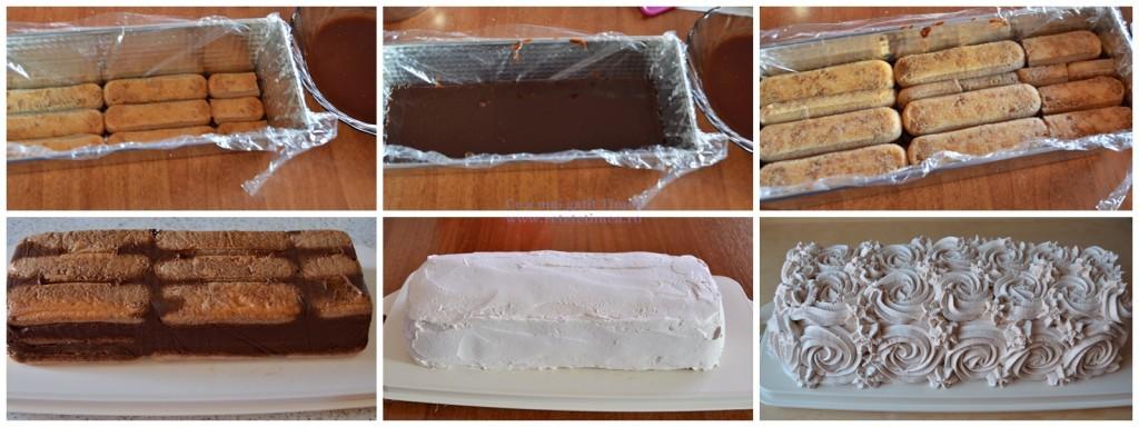 mod de preparare tort de piscoturi cu ciocolata