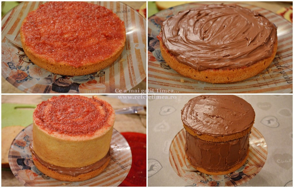 mod de preparare tort spirala cu ciocolata si visine 1