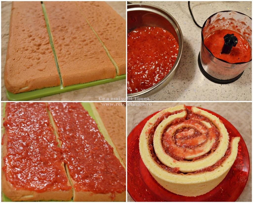 mod de preparare tort spirala cu ciocolata si visine