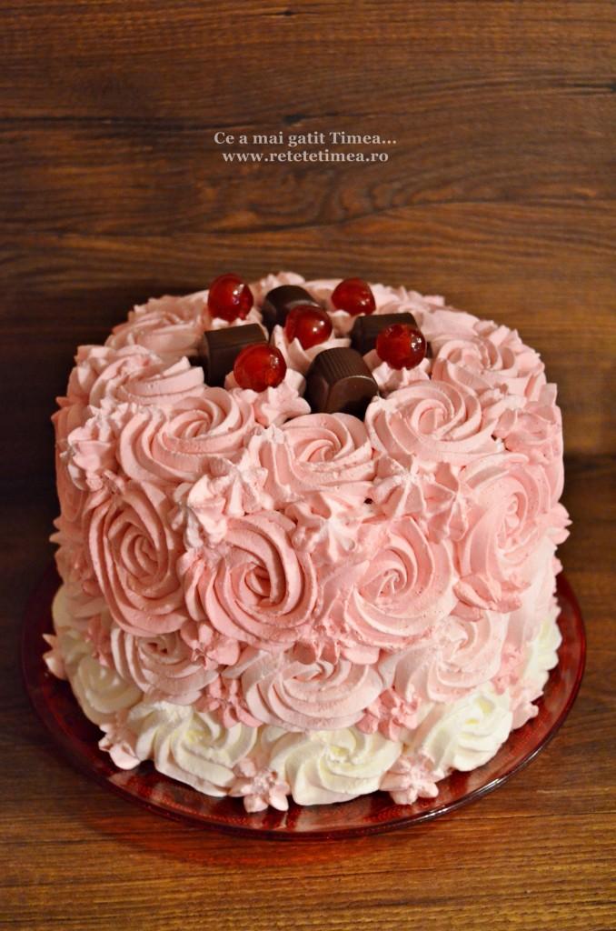 tort spirala cu ciocolata si visine 1