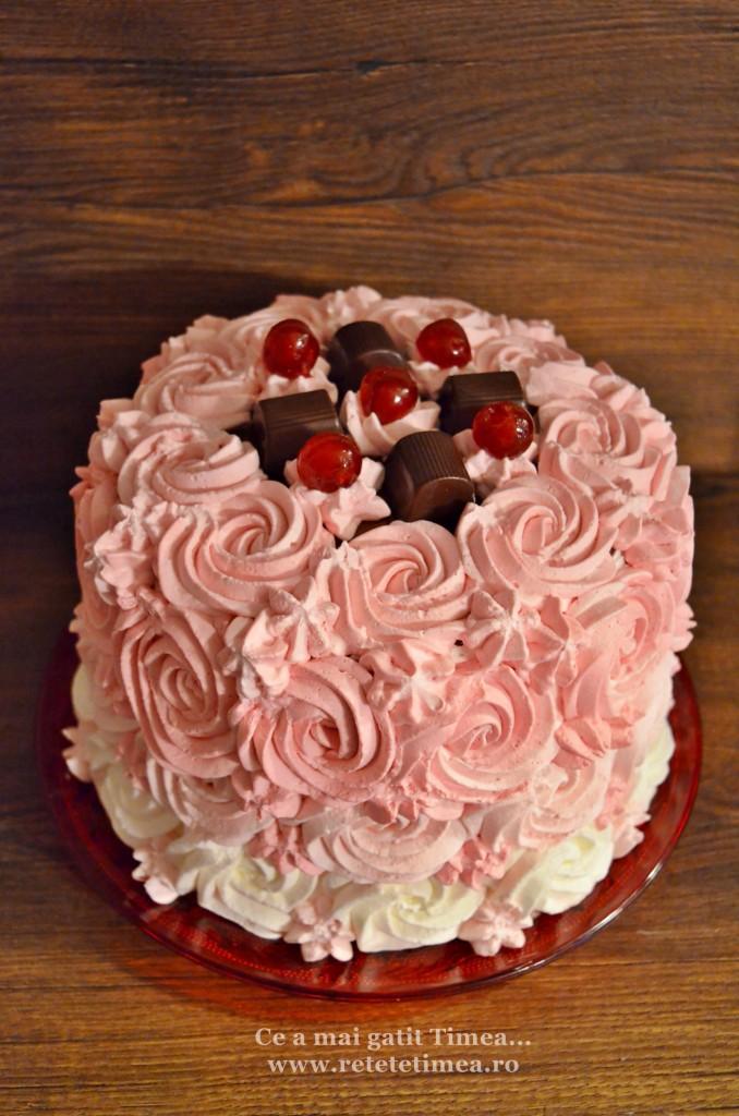 tort spirala cu ciocolata si visine 2