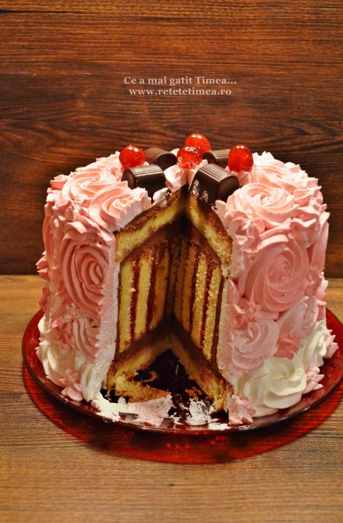 tort spirala cu ciocolata si visine 3