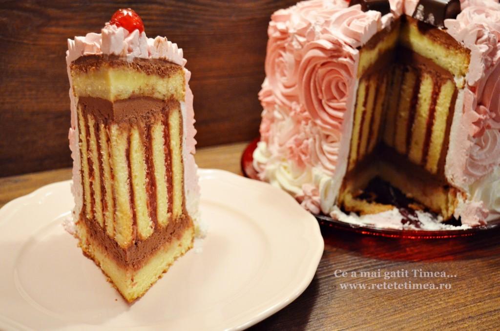 tort spirala cu ciocolata si visine 6