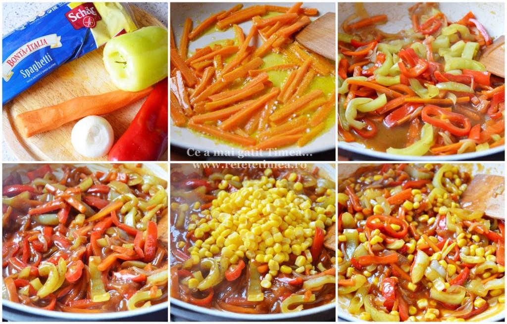 mod de preparare spaghetti fara gluten cu legume