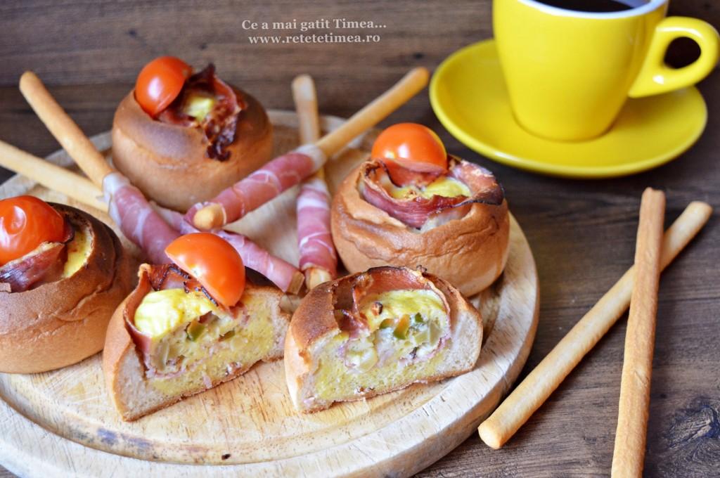 painici cu sunca si omleta la cuptor