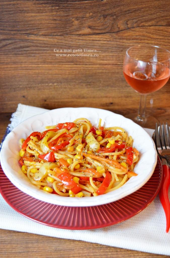 spaghetti fara gluten cu legume 2