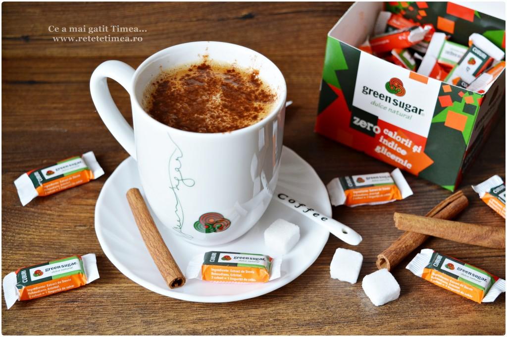 cafea cu scortisoara si green sugar 1