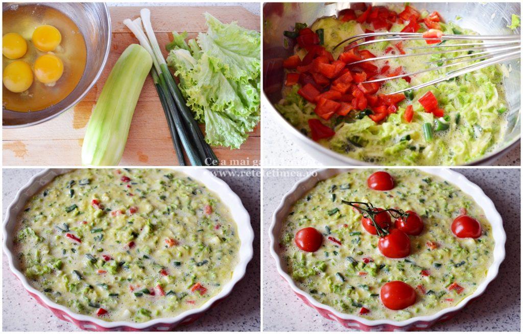mod de preparaere omleta cu verdeturi