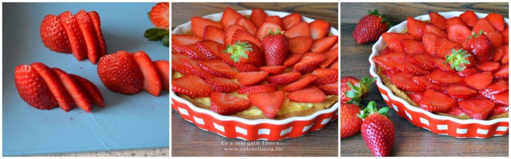 mod de preparare tarta cu crema de vanilie si capsuni 1