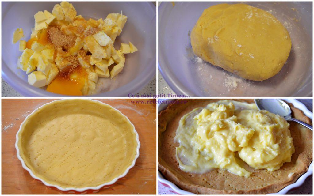 mod de preparare tarta cu crema de vanilie si capsuni