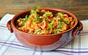 Mancare de legume cu orez