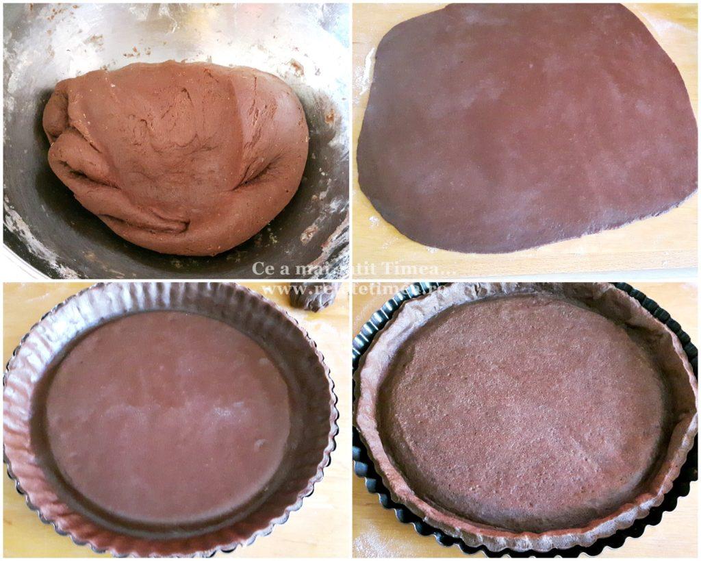 mod de preparare tarta de ciocolata cu fructe