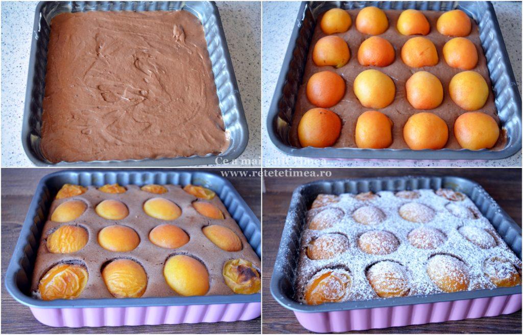 mod de preparare prajitura cu ciocolata si caise 1