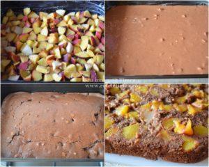 mod de preparare prajitura rastunata cu piersici