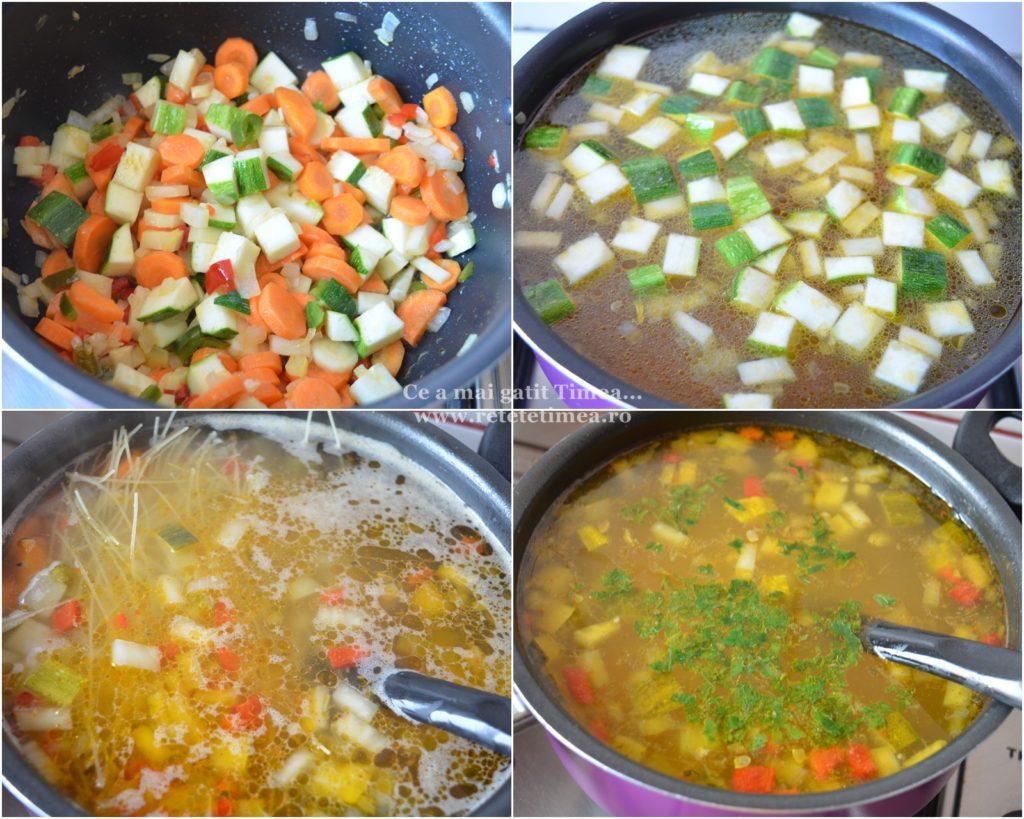 mod de preparare supa de legume cu taitei