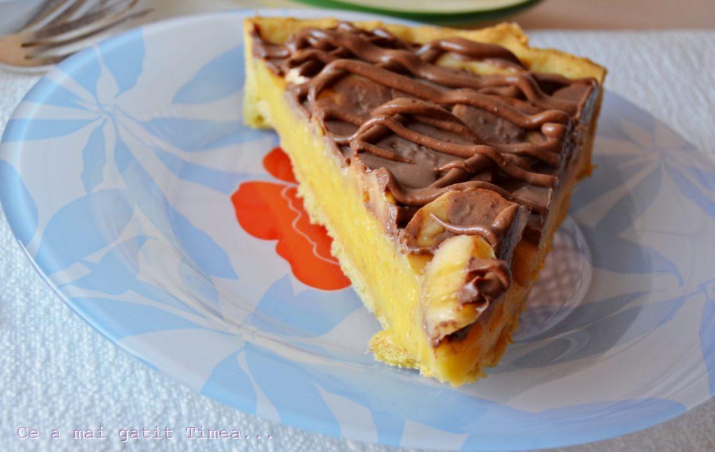 tarta cu crema de vanilie si banane 4